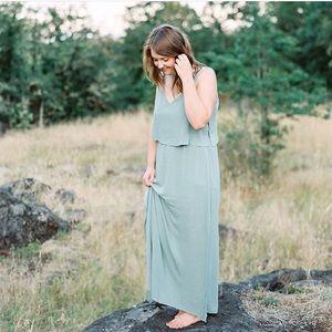 Maxi sage Zara dress